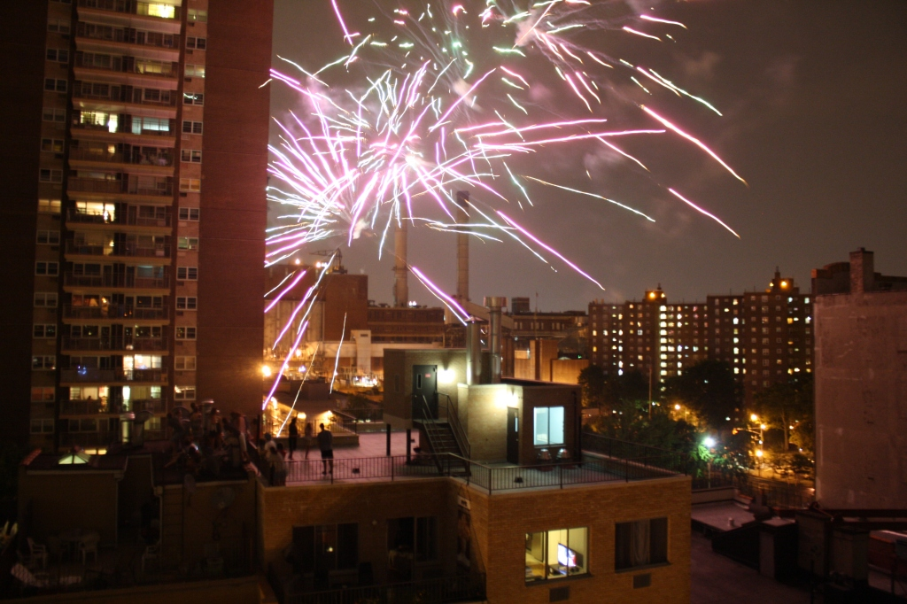 July 4th fireworks in NYC