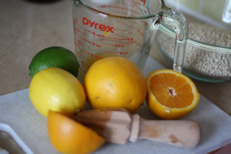 Citrus dressing for couscous salad