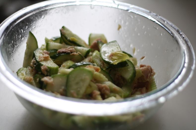 Cucumber & Celery Salad with Tuna
